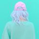 Aesthetic girl in stylish accessories b-boy cap. Fresh pastel colours monochrome fashion design - PhotoDune Item for Sale