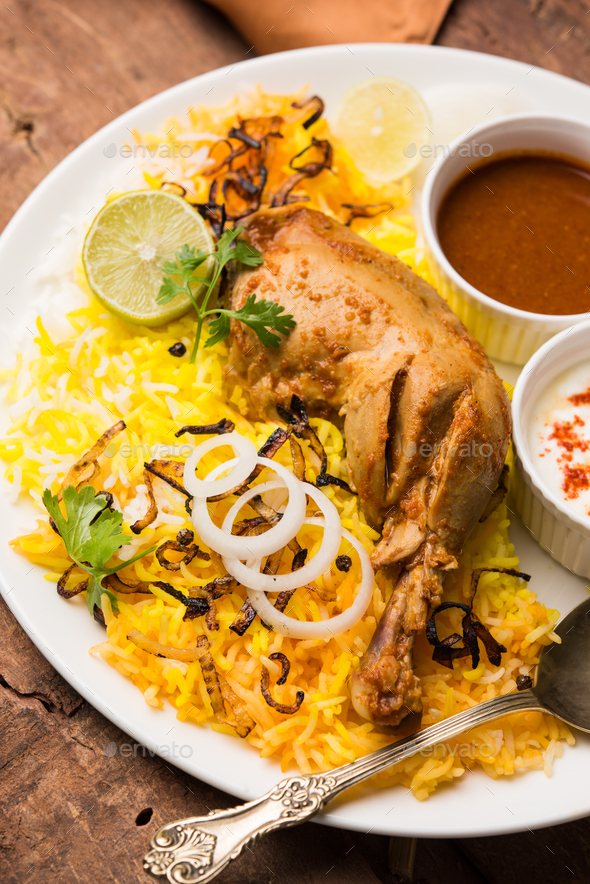 Chicken Biryani - Stock Photo - Images