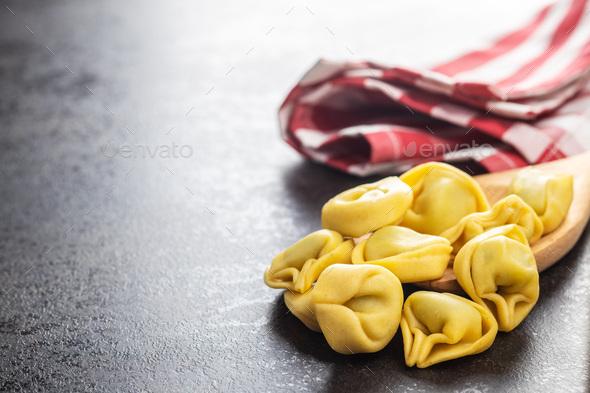 Tortellini pasta. Italian stuffed pasta - Stock Photo - Images