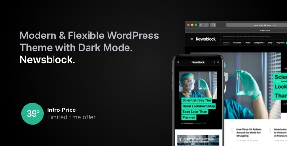 Newsblock - Modern WordPress Theme with Dark Mode