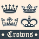 Vintage crowns set - GraphicRiver Item for Sale
