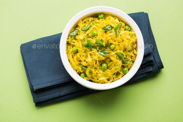 Cabbage Sabzi - Stock Photo - Images