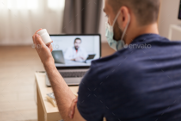 Video consultation with doctor - Stock Photo - Images