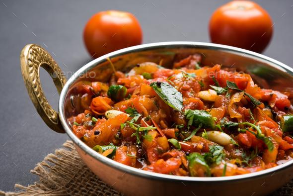 Tomato Curry OR Sabzi - Stock Photo - Images