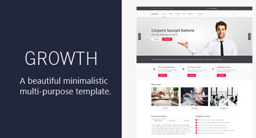 Growth Responsive HTML 5 Template