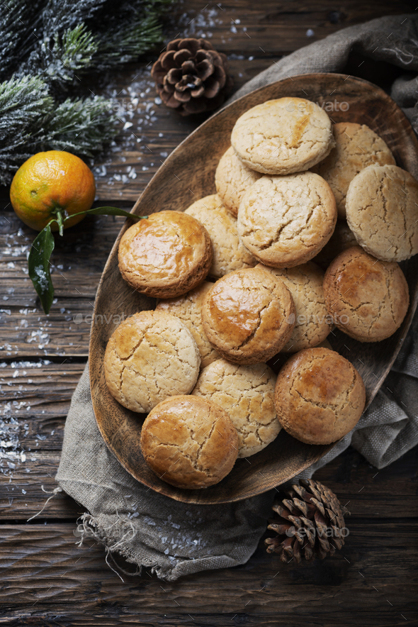Homemade cookies for christmas dinner - Stock Photo - Images
