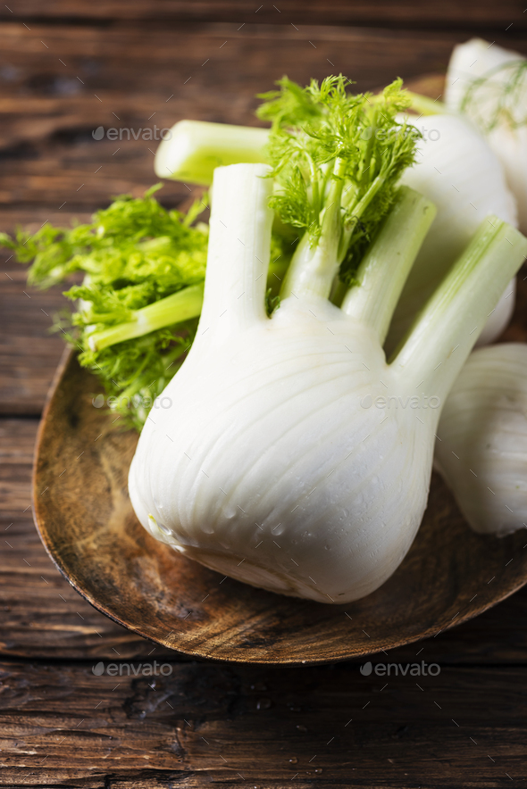 Raw fresh fennel - Stock Photo - Images