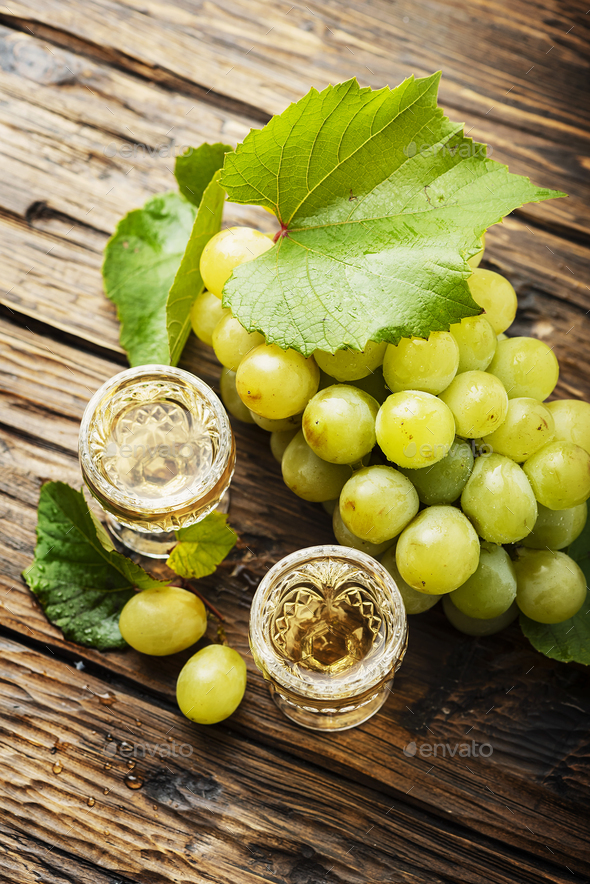 Typical Italian gold grappa - Stock Photo - Images