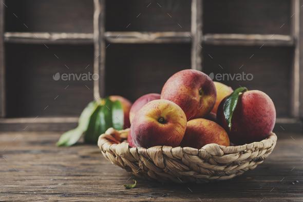 Fresh sweet peaches - Stock Photo - Images