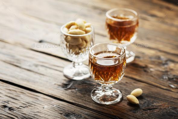 italian liqueur «Amaretto» - Stock Photo - Images