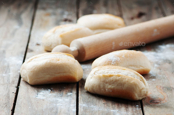 Homemade bread on the table - Stock Photo - Images