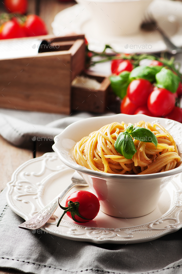 Traditional sicilian red pesto with tomato - Stock Photo - Images