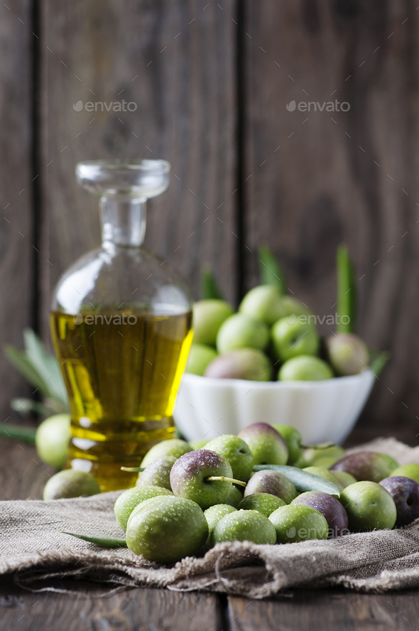 Raw olive for making oil - Stock Photo - Images