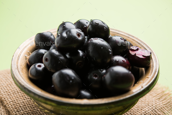 Jamun Or Java Plum Fruit - Stock Photo - Images