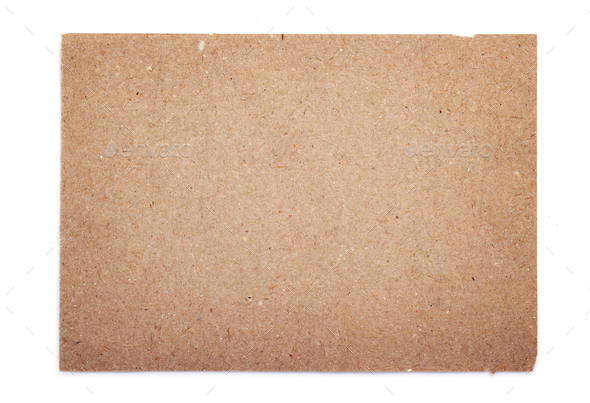piece of aged paper texture on white background - Stock Photo - Images