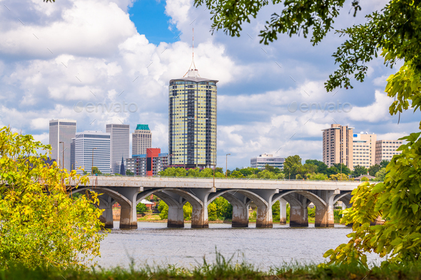 Tulsa, Oklahoma, USA Skyline - Stock Photo - Images