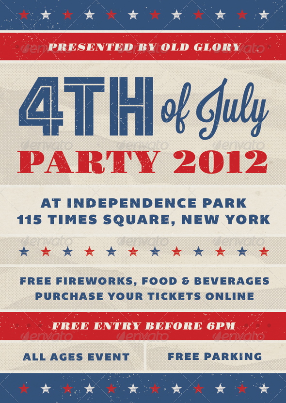 Old Glory - Fourth of July Event Flyer - Holidays Events