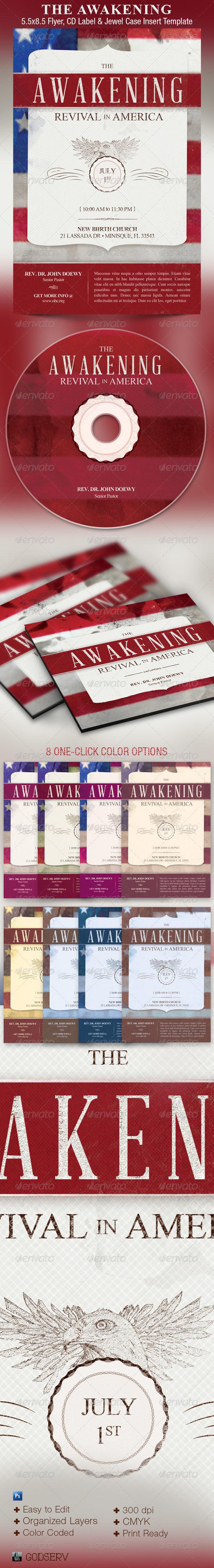 Awakening Revival Church Flyer CD Template - Church Flyers