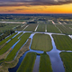 Aerial view of Sunset over Historic dutch Waterland - PhotoDune Item for Sale