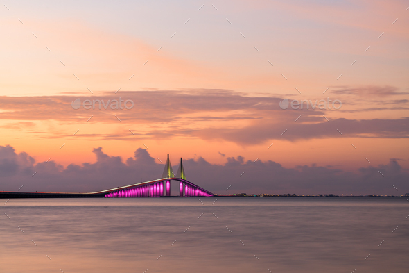 Sunshine Skyway Bridge in Florida - Stock Photo - Images