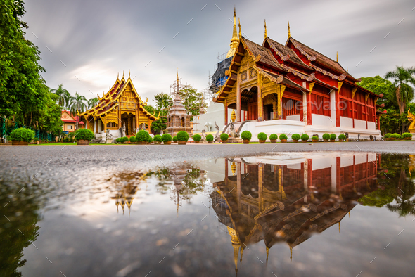 Wat Phra Singh in Chiang Mai, Thailand - Stock Photo - Images