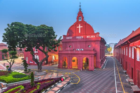Christ Church Melaka in Malacca, Malaysia - Stock Photo - Images