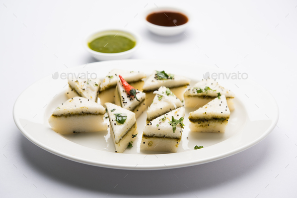 Sandwich Dhokla - Stock Photo - Images