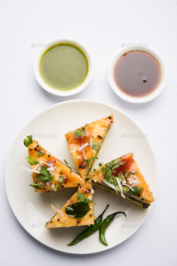 Sandwich Dhokla - Stock Photo - Images