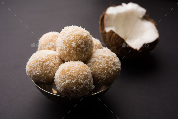 Coconut Ladoo - Stock Photo - Images