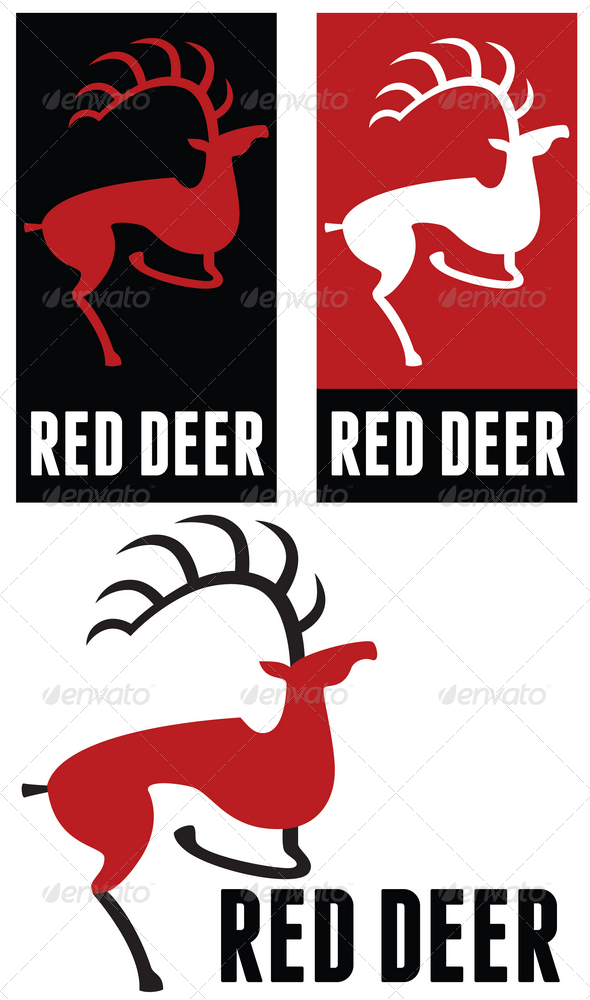 Red deer logo - Animals Logo Templates