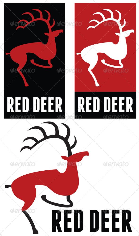 Red deer logo - Animals Logo Templates