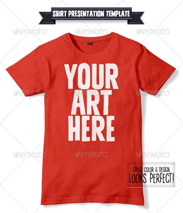 Unisex Shirt Mockup  - T-shirts Apparel