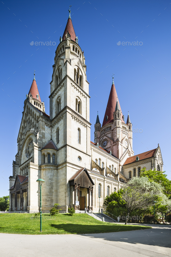St. Francis of Assisi Church, Vienna, Austria - Stock Photo - Images