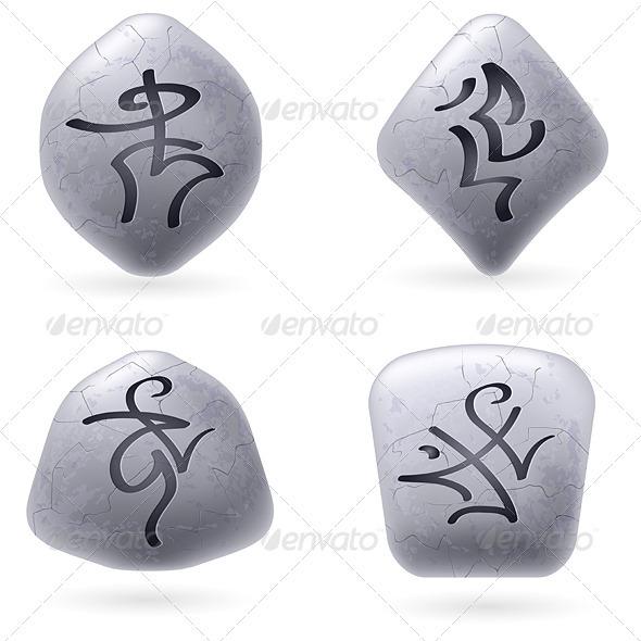 Runic Stones - Objects Vectors