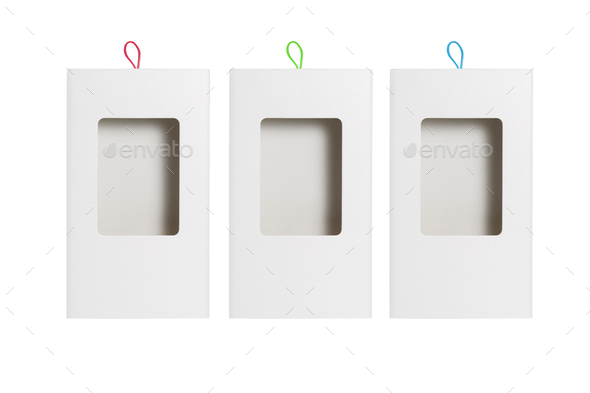 Paper Box with Plastic Transparent Window - Stock Photo - Images