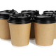 Five Paper Coffee Cups - PhotoDune Item for Sale