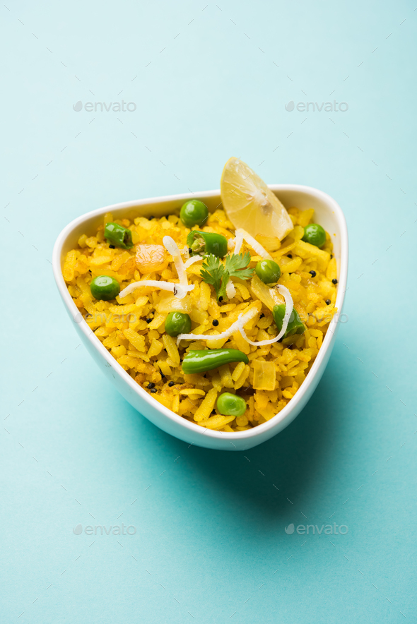 Aloo Poha or Kande Pohe - Stock Photo - Images