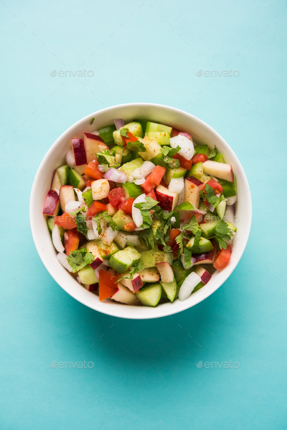 Kachumber / Indian Green Salad - Stock Photo - Images