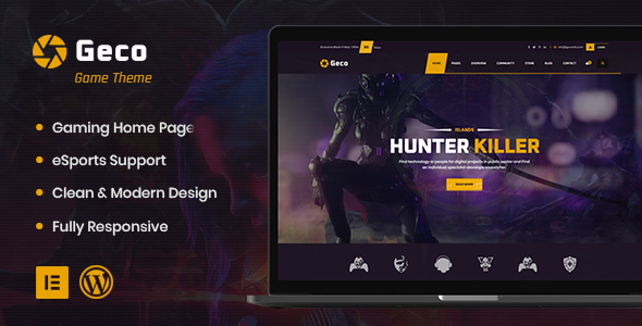 Geco - eSports and Gaming WordPress Theme