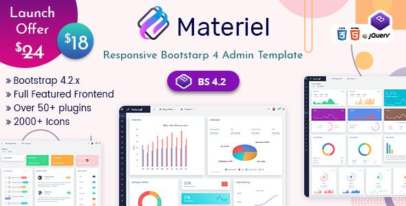 Materiel - Responsive Bootstrap 4 Dashboard Template