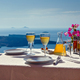 Table and two glasses of wine  the island of Santorin - PhotoDune Item for Sale