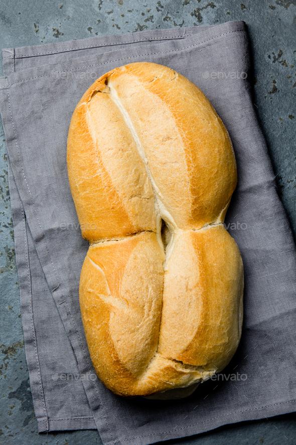Traditional chilean bread marraqueta - Stock Photo - Images