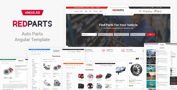 RedParts – Auto Parts Angular Template