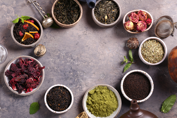 Assortment of Various Tea - Stock Photo - Images