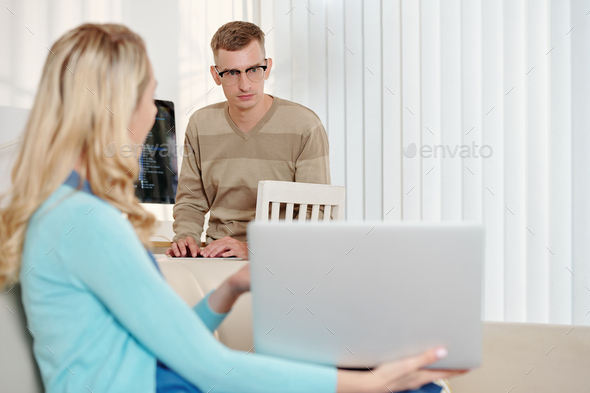 Look at my presentation - Stock Photo - Images