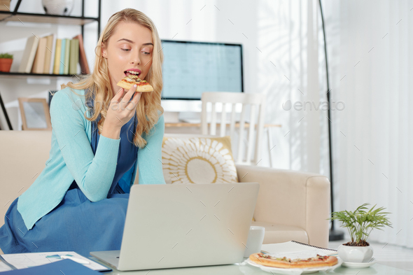 Businesswoman working from home during quarantine - Stock Photo - Images
