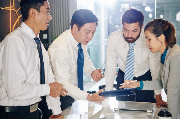Team creating crisis management plan - Stock Photo - Images