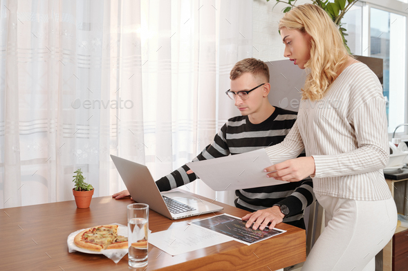 Talking mobile app developers - Stock Photo - Images
