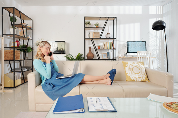Businesswoman working from home - Stock Photo - Images