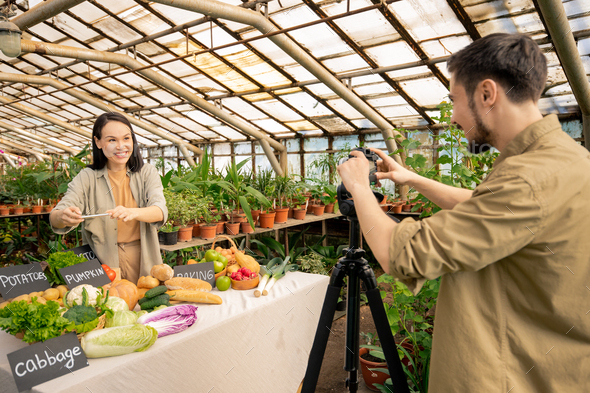 Blogger going on camera - Stock Photo - Images